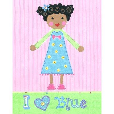The Little Acorn Painting, I Love Blue Girl - 1