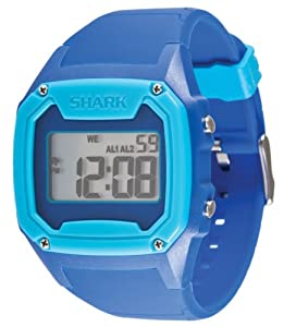 Freestyle Men's 101997 Shark Oversize Case Digital Retro Digital Two-Tone Blue Watch