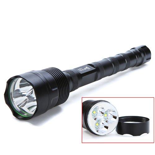 Docooler 5000 Lumen 3 * Cree Xm-L Xml T6 Aluminum Alloy Led Flashlight Torch