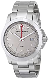 Stuhrling Original Men's 532.01 Leisure Esprit GMT Analog Display Swiss Quart...