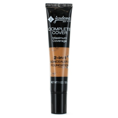 (6 Pack) JORDANA Complete Cover 2-in-1 Concealer & Foundation - Toffee
