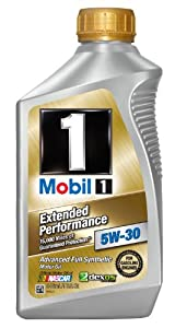 Mobil 1 44976 5W-30 Extended Performance Synthetic Motor Oil - 1 Quart (Pack of 6)