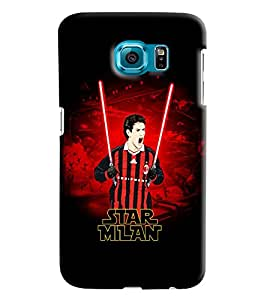 Blue Throat Star Milan Printed Designer Back Cover For Samsung Galaxy S6