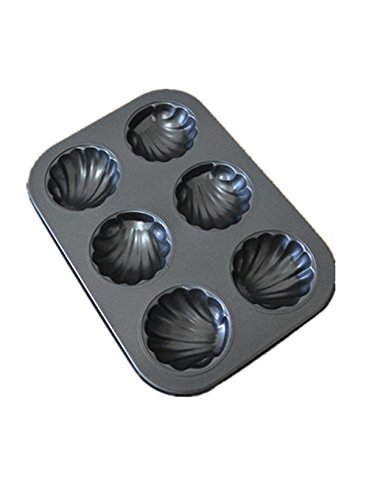 Non-Stick Madeleine Pans,Cake Mold 6-cup (Insulated Cake Boxes compare prices)