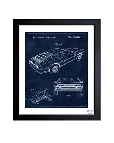 Oliver Gal Delorean, 1986 Framed Art
