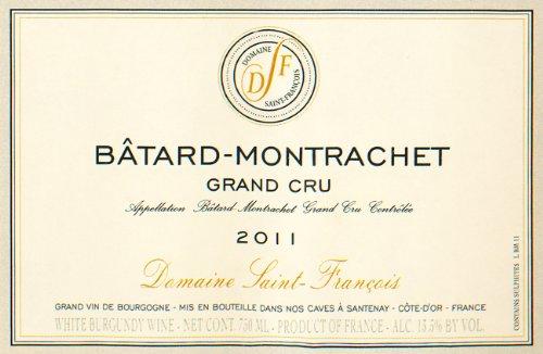 2011 Domaine Saint Francois Grand Cru Chardonnay Côte De Beaune 750 Ml