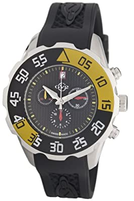 GV2 by Gevril Men's 3000R Parachute Chronograph Rubber Date Watch