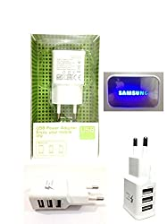 Samsung 3 USB Travel Adapter Mobile Charger For Samsung, iPhone, Tablets 3.0A With USB Cable