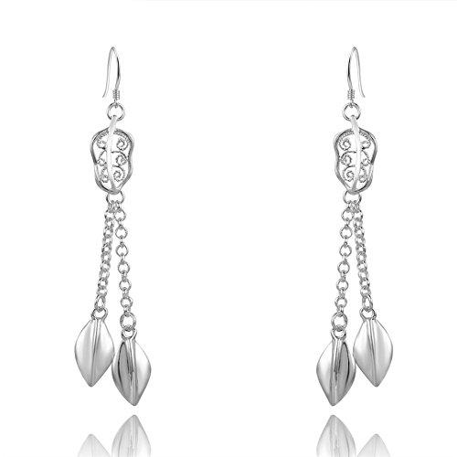 nykkola Schöne Damen-925Sterling Silber vergoldet Klassischer Damen Damen Draht Ohrringe mit Geschenk Taschen