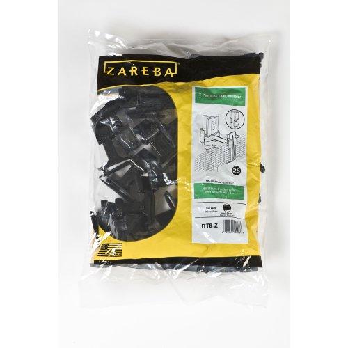Zareba Ittb-Z T-Post Poly Tape Insulator, Black, 25 Per Bag