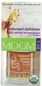 Moom Organic Hair Removal Kit With Lavender, 6-Ounce Package