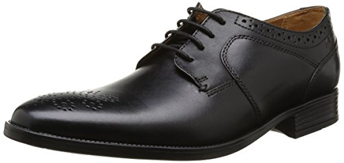 Clarks Kalden Edge, Scarpe Derby con lacci uomo, Nero (BLACK LEATHER), 46