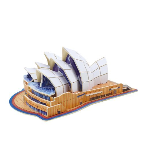 Diy 3d Wooden Puzzle Model Sydney Opera House 86 Pieces Home/office Decoration diy wooden model doll house manual assembly house miniature puzzle handmade dollhouse birthday gift toy pandora love cake