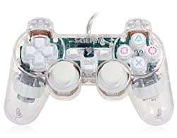 USB2.0 Game Controller with Transparent Cover White