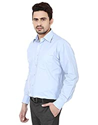 PSK Regular Full Sleeve Men's Formal Shirt Blue