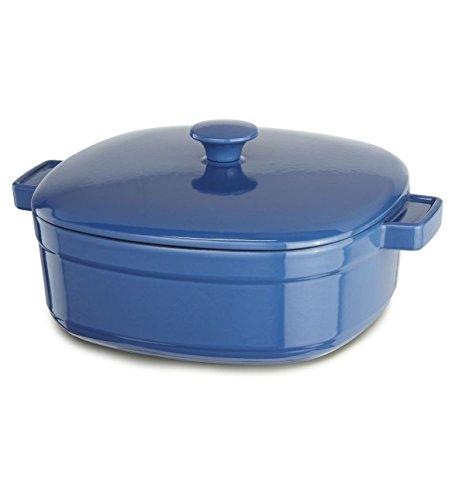 Kitchenaid Cast Iron Streamline Cookware Kcli30crnb Spring Blue 3-qt Casserole