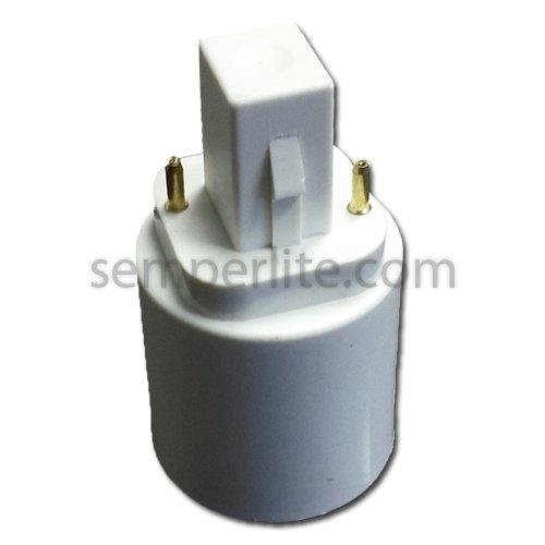 Lh0888 Converts 2Pin G24D-2/G24D-3 Cfl Sockets To Standard Medium Base Ones