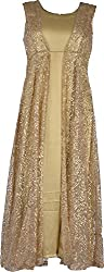 Zarasboutique Women's A-Line Dress (BRP291225144_X-Large Beige, X-Large)