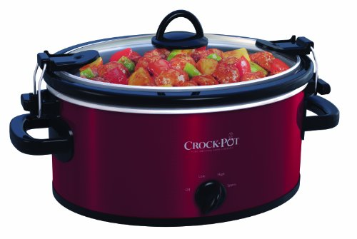 Crock-Pot SCCPVL400-R 4-Quart Cook and Carry Slow Cooker, Red Stainless Steel (Crockpot Slow Cooker Red compare prices)
