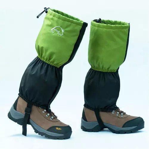 Ezyoutdoor 1 Pair 45cm Snow Leg Legging Boot Gaiters Trouser Cover for Biker Ski Snow Winter Outdoor Hiking Walking Gaiters Climbing Hunting Snow Legging Leg Cover Wraps(green) (Wood Stove Floor Guard compare prices)