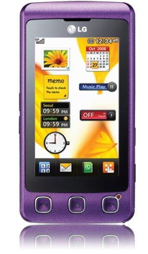 LG KP500 Cookie Pansy Purple Unlocked, Sim Free Mobile Phone