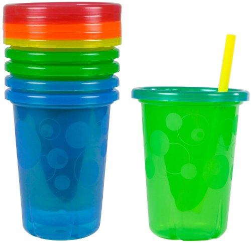 The First Years Take & Toss 5 Count Straw Cups, 10 Ounce