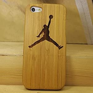 Euroge Tech 100% Natural Bamboo Case for iPhone 5 Jordan