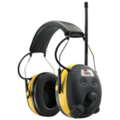3M TEKK WorkTunes Hearing Protector, MP3 Compatible with AM FM Tuner by 3M