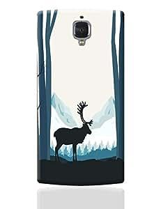 PosterGuy OnePlus 3 Case Cover - Reindeer In Snow Illustration   Designed by: Divya Goel