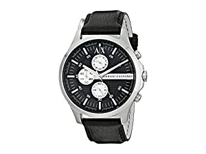 Armani Exchange AX2153 Chronograph Black Leather Men's Watch