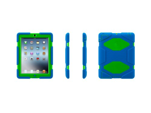 Griffin Survivor Military Duty Case for iPad 2/3/4 - Blue/Green (GB35692-2) (Griffin Ipad Cover compare prices)