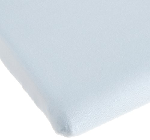 Carters Easy Fit Jersey Portable Crib Fitted Sheet, Blue (Discontinued by Manufacturer)