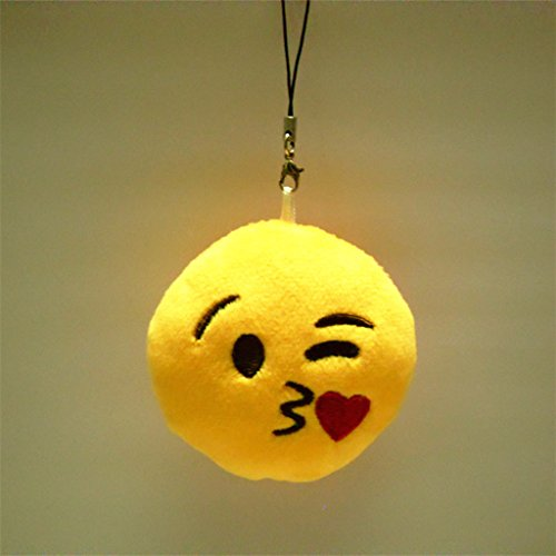 mignon emoji porte cl s pendentif peluche cha ne de cl s d coration strap. Black Bedroom Furniture Sets. Home Design Ideas