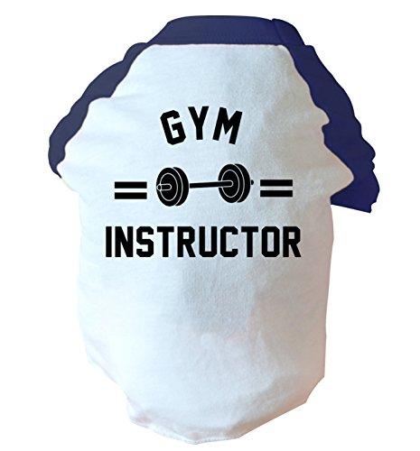 gym instructor two toned dog vest pink or blue