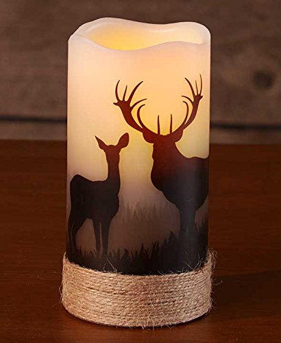 led-wilderness-silhouette-candles-deer