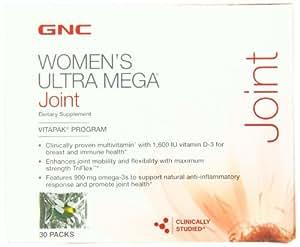 Gnc Womens Ultra Mega Joint Vitamin Pack, 30 Count