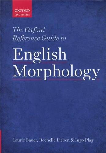 The Oxford Reference Guide To English Morphology front-75606