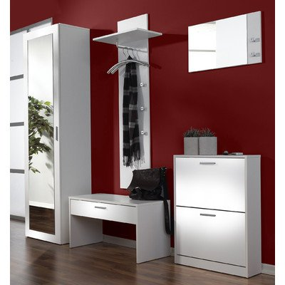 tlg garderoben set torino farbe wei. Black Bedroom Furniture Sets. Home Design Ideas