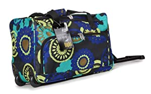 Womens Girls Mens Superior Quality Black Multi Colour Aqua Design 20 Approx Size 32x50x27cm Hxwxd 43 Litres Twin Handle Wheeled Holdalldue To Its Lightweight Construction And Sensible Size It Makes A Perfect Cabin Bag For Many Airlines