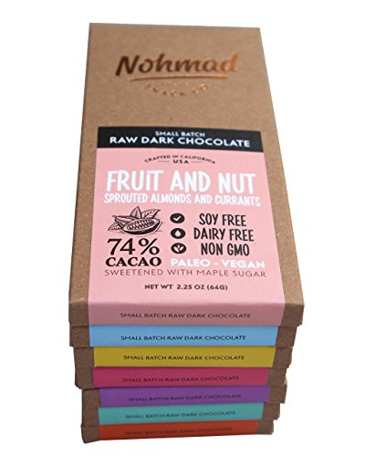 nohmad snack co paleo organic dark chocolate bars