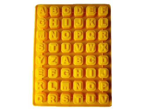 48 Even 26 Letters Silicone Cake Mold Soap Mold