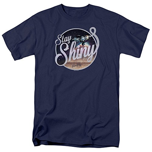 Firefly Stay Shiny Mens Short Sleeve Shirt Navy 5X (Serenity Movie Merchandise compare prices)