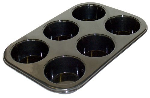WellBake Professional 6 Cup Muffin/Cupcake Tray. Superior Quality Nonstick Silicone Bakeware + 10 Year Guarantee