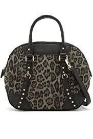 M&S Collection Leopard Print Bowler Bag [T83-7054-S]