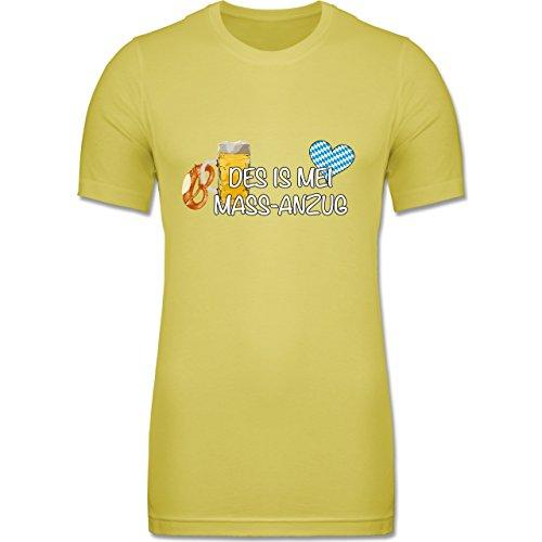 Shirtracer CV3001 - Figurbetontes Männer Shirt - L - Gelb - Oktoberfest Herren - Mass-Anzug