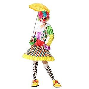 Deguisement femme adulte Costume Halloween clown manches longues