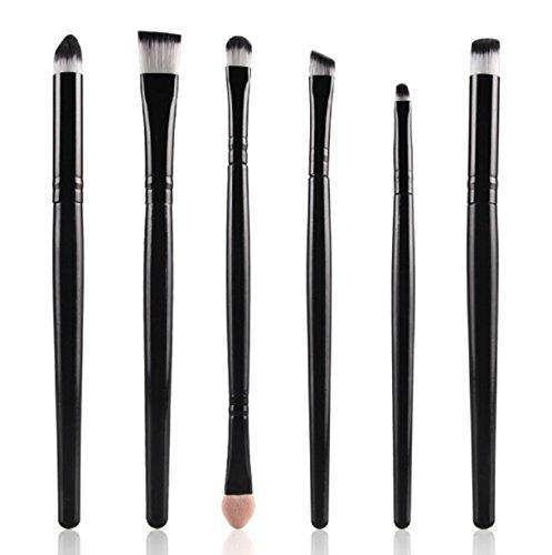 Makeup Brushes,Vovotrade 6PCS Cosmetic Makeup Brush Lip Makeup Brush Eyeshadow Brush (Black) (Clear Pink Tint Nail Polish compare prices)