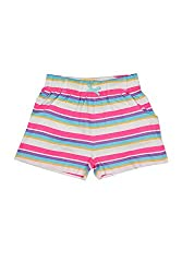 Poppers by Pantaloons Girl's Cotton Shorts (205000005662102, Blue, 7-8 Years)