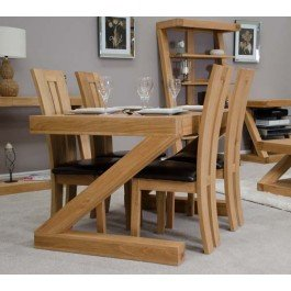 Z Oak Designer 4' X 3' Dining Table