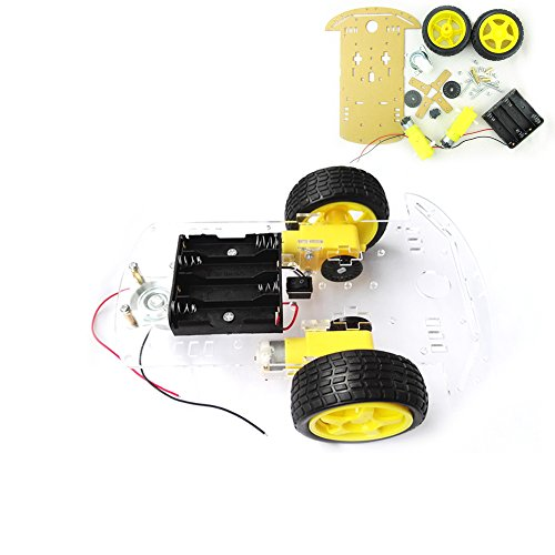 EMO RING Smart Robot Car Chassis Kit with Motors,Speed Encoder and Battery Box for DIY (2wd Robot Car compare prices)